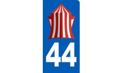 autocollant immatriculation motard 44 la Baule