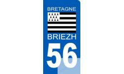 autocollant immatriculation motard 56 BRIEZH