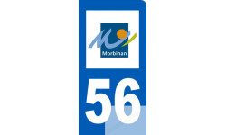 autocollant immatriculation motard 56 du Morbihan