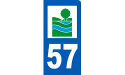 autocollant immatriculation motard 57 de la Moselle