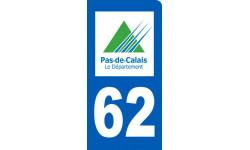 Autocollants : autocollant immatriculation motard 62 du Pas de Calais