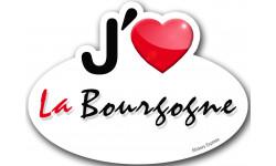 Autocollants : j'aime la Bourgogne