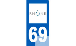 Autocollants : autocollant immatriculation motard 69 du Rhône