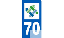 autocollant immatriculation motard 70 de la Haute-Saône