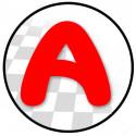 Sticker / autocollant : A Jeune Conducteur - Modèle n°7 - 15x15cm