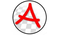 Sticker / autocollant : A Jeune Conducteur - Modèle 12 - 15x15cm