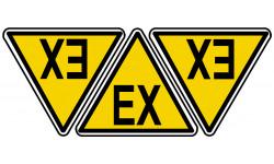 sticker autocollant risque d'explosion sur lieu de travail