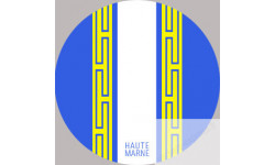 stickers autocollants departement blason de la Haute Marne