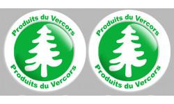 Autocollants : Stickers série Produits du Vercors - 2 autocollants de 10cm de diamètre