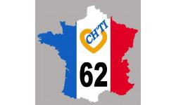 Autocollants : sticker autocollant France ch'ti 62
