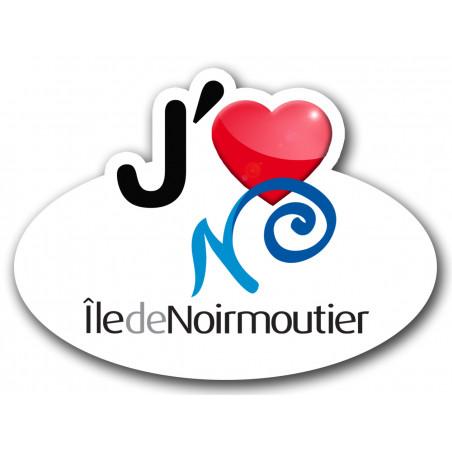 Autocollants : Sticker autocollant j'aime l'Ile de Noirmoutier