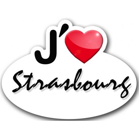 Sticker autocollant j'aime Strasbourg