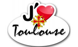 Autocollants : Sticker autocollant j'aime Toulouse