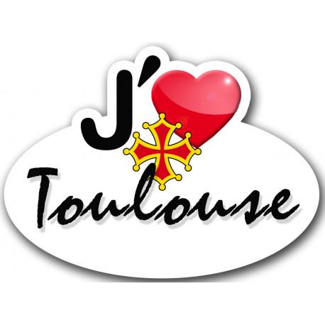 Sticker autocollant j'aime Toulouse