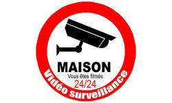 Sticker / autocollant : vidéo surveillance Maison - 20cm