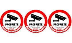 Sticker / autocollant : vidéo surveillance Propriété - 3x5cm