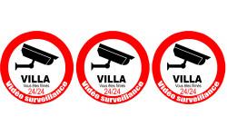 Sticker / autocollant : vidéo sécurité Villa - 3x5cm