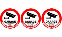 Sticker / autocollant : vidéo surveillance Garage - 3x5cm