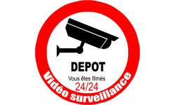 autocollant video surveillance DEPOT