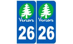 Autocollants : numéro immatriculation 26 (la Drôme)