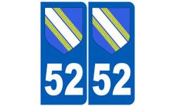 numero immatriculation 52 (Blason Haute-Marne)