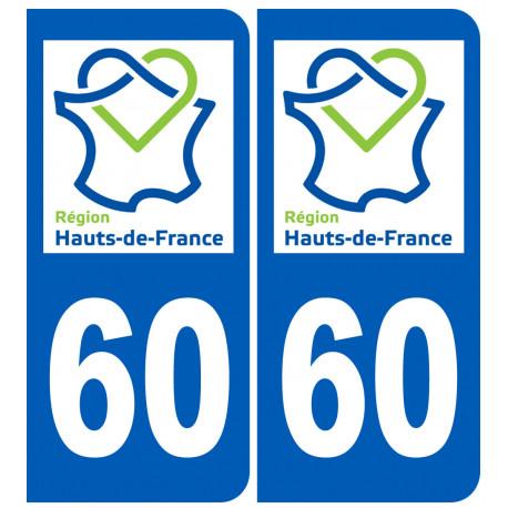Logo autocollant 60 immatriculation de l'Oise region Picardie Hauts-de-France