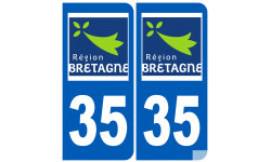 Autocollants : numéro immatriculation 35 (région)