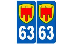 numero immatriculation 63 Auvergne