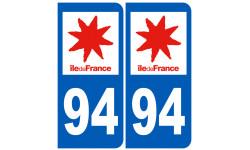 Autocollants : numéro immatriculation 94 (region)