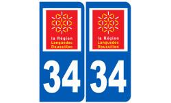 Autocollants : numéro immatriculation 34 (region)
