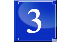 Sticker / autocollant : numéroderue3 - classique