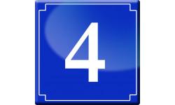 Sticker / autocollant : numéroderue4 - classique