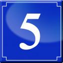 Sticker / autocollant : numéroderue5 - classique