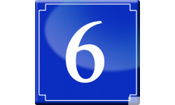 Sticker / autocollant : numéroderue6 - classique