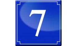Sticker / autocollant : numéroderue7 - classique