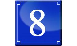 Sticker / autocollant : numéroderue8 - classique