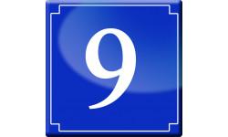 Sticker / autocollant : numéroderue9 - classique