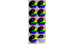 Stickers  / Autocollants  YIN YANG gay pride 2