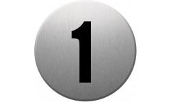 Sticker / autocollant : numéroderue1 - gris brossé