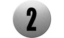 Sticker / autocollant : numéroderue2 - gris brossé