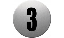 Sticker / autocollant : numéroderue3 - gris brossé