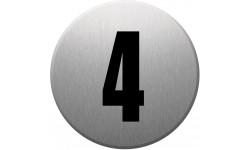 Sticker / autocollant : numéroderue4 - gris brossé