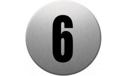 Sticker / autocollant : numéroderue6 - gris brossé