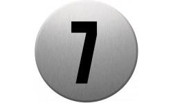 Sticker / autocollant : numéroderue7 - gris brossé