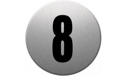 Sticker / autocollant : numéroderue8 - gris brossé