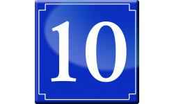 numéro de rue 10