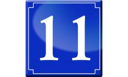Sticker / autocollant : numéroderue11 - classique