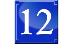 Sticker / autocollant : numéroderue12 - classique