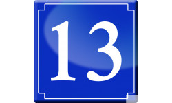 Sticker / autocollant : numéroderue13 - classique