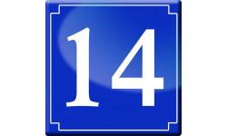 Sticker / autocollant : numéroderue14 - classique